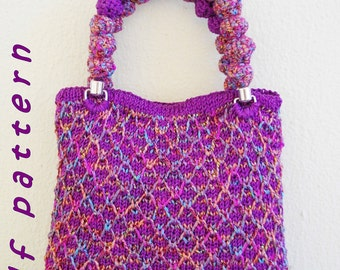 Stylish small textured colorful bag - PDF pattern