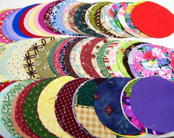 Die Cut fabric Circles in 4 or 5 inch - Great for making Yo yos