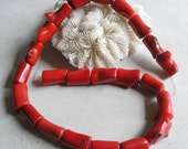 Red Bamboo Branch Coral Beads
