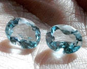 Blue Topaz Solitaires- Oval Cut Gemstones- Blue Topaz Faceted Gemstones For Jewelry Making
