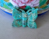 Turquoise Butterfly Bead- Butterfly Focal Bead