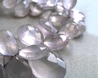 Rose Quartz Beads Faceted Briolette Teardrop For Wire Wrapping Beaded Jewelry Making Metaphysical Healing Stone