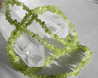 Peridot Gemstone Beads- Bright Green Peridot Chip Beads For Jewelry Making