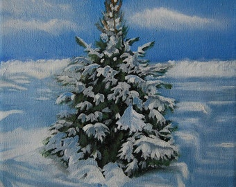 The Day After Snow Oil Painting by Mary Hughes