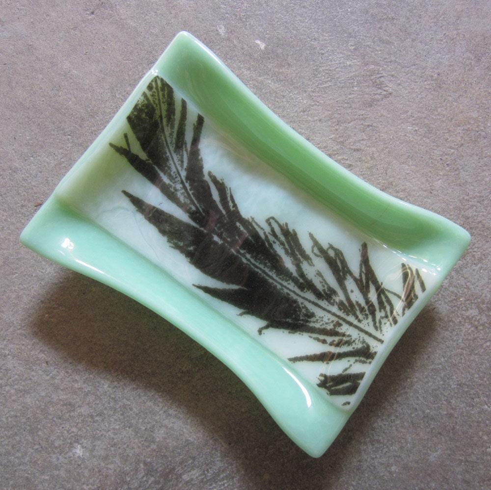 mint green soap dish bathroom decor glass soap dish with