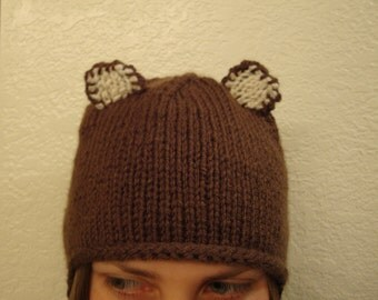 BEAR hand knit hat --- bobcathats