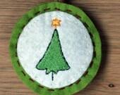 Tiny tree - Christmas tree ornament \/ decoration