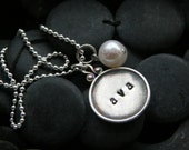 Every Disc Got A Story   - Raised Rim Charm Necklace - 1 disc - By SimaG