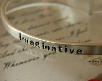 Say What You Want To Say - - - - UP to 12  lowercase letters - - - Say Anything On YOUR cuff---Custom sterling silver By - Simag