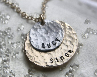 Andra's Necklace - Congratulations To YOU - Hand Stamped Jewelry - Personalized Your Necklace - -SIMAG