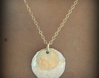 Over the Moon necklace --gold filled and sterling --Personalized jewelry carries a message & holds special meaning for the wearer.-  SIMAG