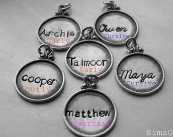 This listing is for ADD A CHARM Every Disc Has A Story -  personalized jewelry Hand Stamped By SimaG