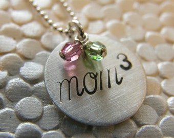 MOM   - handstamped handmade by SimaG