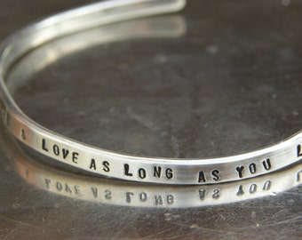 Say Anything - Custom Sterling Silver Cuff - By - SimaG
