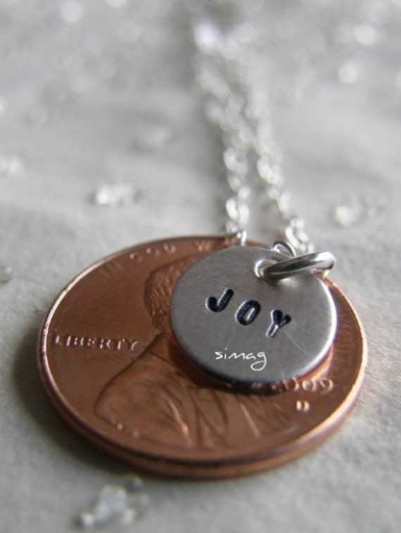 Little round Tags - Sterling Silver Disc personalized it with your name or word) In Hebrew Or English - Simag