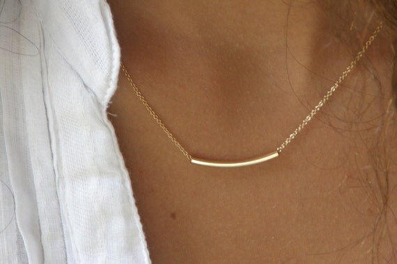 The Original Golden Bar -Very Elegant and Delicate InStyle  Necklace - By SimaG