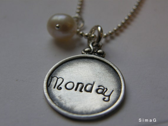 Every Disc Has A Story- Personalize it In Hebrew OR English - Personalized Charm Necklaces  -SimaG