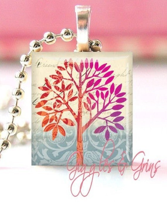 Free Chain with Scrabble Tile Pendant Purchase (Altered Tree -- Avatar 001)