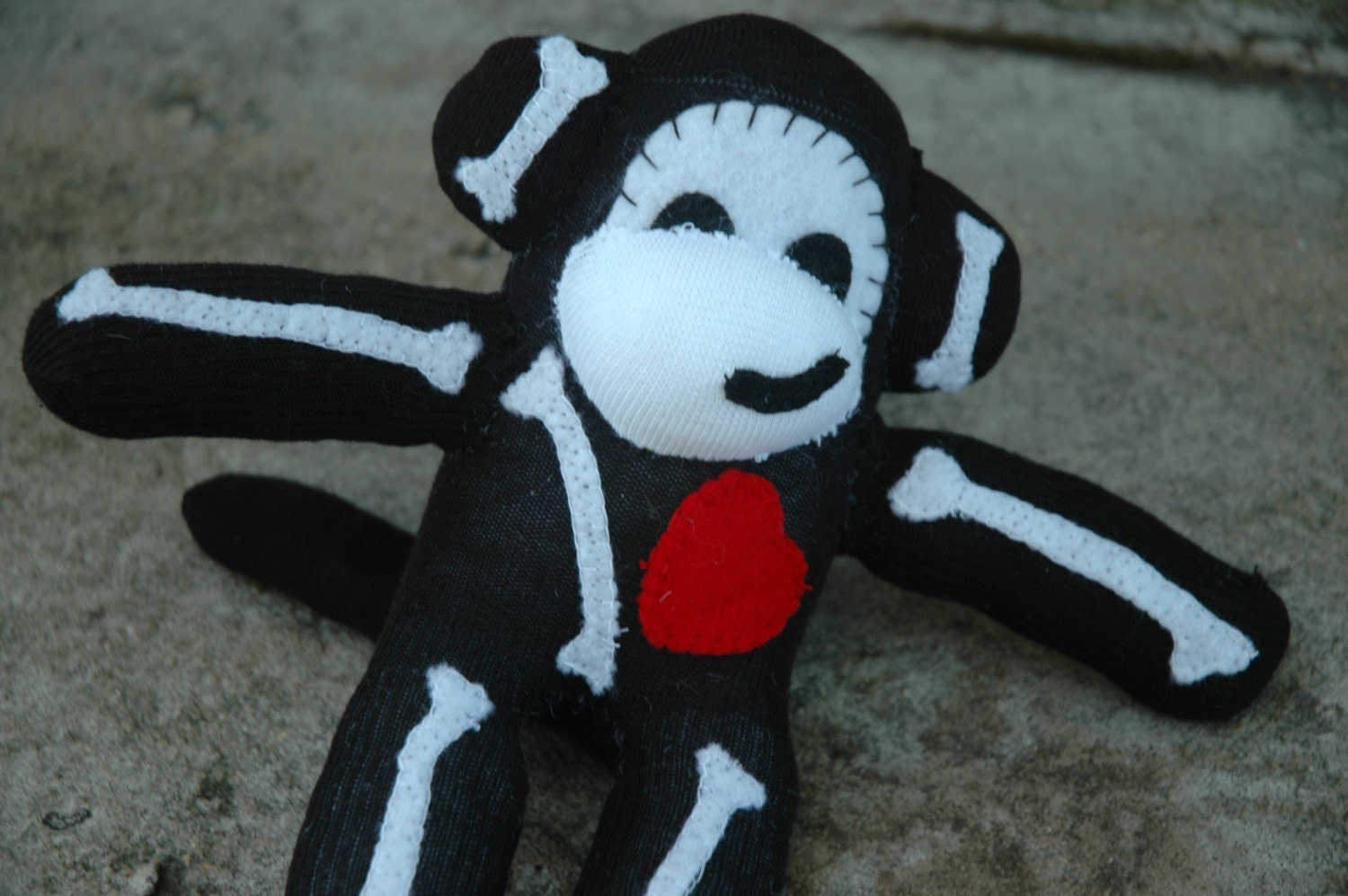 Medium size Jack the undead sock monkey