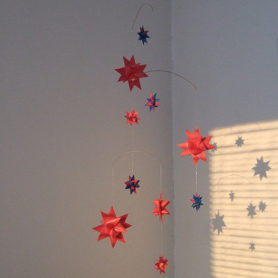 STELLAE BOREALES 21 Made in Finland - Shimmering Hanging Moravian Star Mobile 72 cm