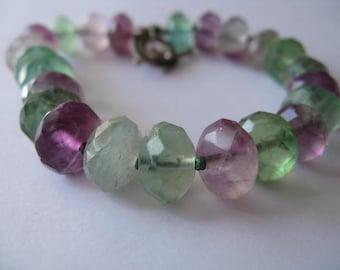 Faceted Fluorite Bead Bracelet