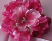 Bridal Hair Wedding Hair Flower Hair Clip Pink Fuchsia Peony Fascinator
