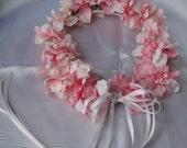 Pink Delphinium Flower Girl Wreath
