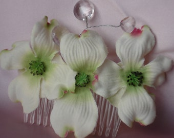 Bridal Hair Wedding Hair Dogwood Flower Fascinator Hair Comb