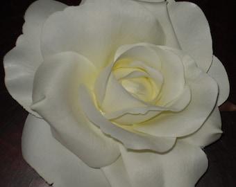Bridal Hair Wedding Hair White Cream Rose Flower Hair Clip Fascinator Headpiece