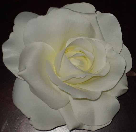 Bridal Hair Wedding Hair White Cream Rose Flower Hair Clip Fascinator Headpiece