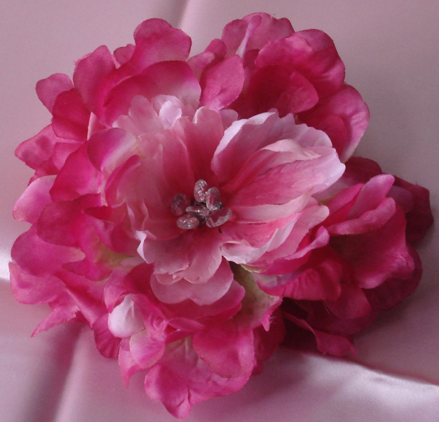 Wedding Hair Flowers Pink : Bridal hair wedding flower clip pink by lovelygifts