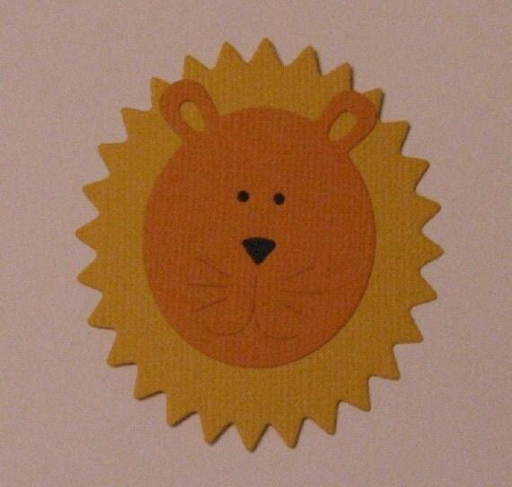 2 Lion Die Cut Paper Piecings