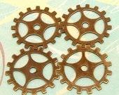 Steampunk Gear 19mm Antiqued Brass 4 Pc. AB21