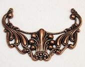 Pendant Connector Antique Copper Art Nouveau Trinity Brass AC80