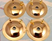 Button To Pendant Converters 25 MM, Gold 4 Pc. AG198