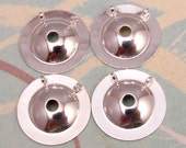 Button To Pendant Converter, Small, 15 MM, Silver 4 Pc. AS227