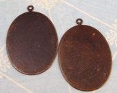 Vintaj Brass Blank Oval Pendant, 2 pc. V84
