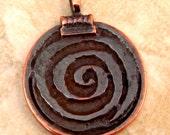 Mykonos Casting Spiral Pendant, Bronze Patina M92