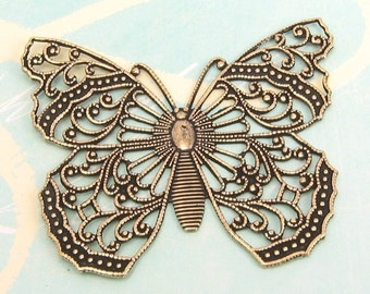 Filigree Butterfly Antique Gold Trinity Brass AG18