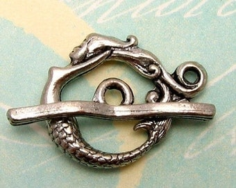Mermaid Toggle Clasp Antique Pewter AP24
