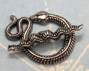 Snake Toggle Clasp Antique Pewter Silver AP59