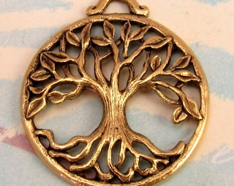 Tree Of Life Pendant Antique Gold AG194