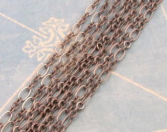 Links & Ovals Chain, Soldered 4mm Antique Silver 6' AS226