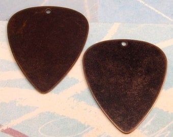 Vintaj Brass Blank Guitar Pick 2 Pc. V92