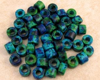 Mykonos Mini Tube Greek Ceramic Beads 6x4 mm Aegean Mix 50 Pieces M25