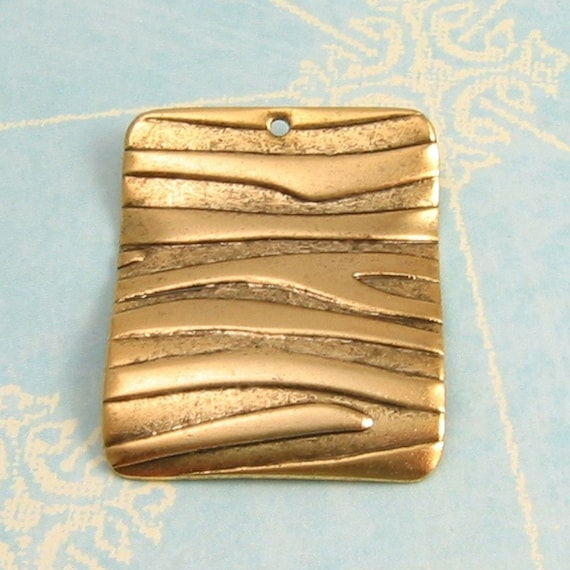 Animal Print Pendant Antique Gold 2 pc. AG76