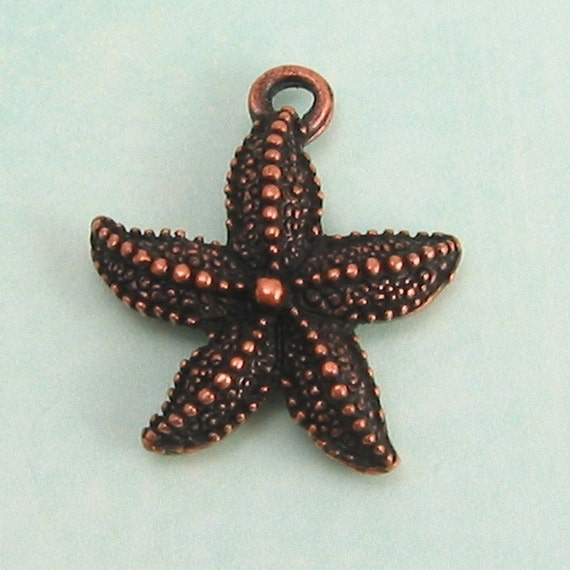 Starfish Charm Antique Copper 2 pc. AC14