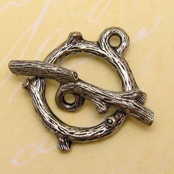 Twig Toggle Clasp, Antique Pewter AS116