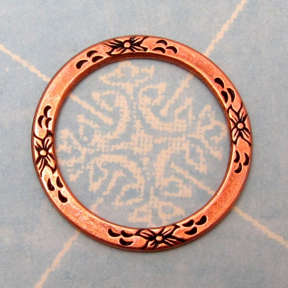 Floral Eternal Ring Antique Copper Trinity Brass AC106