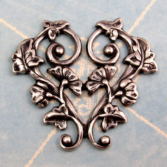 Morning Glory Pendant Antique Silver Trinity Brass AS231